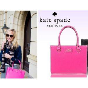 Kate Spade Wellesley Quinn Bajarose Pink Tote